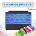 2 Шт. Моющиеся Клавиатуры Обложка Для Microsoft Surface Pro4 Клавиатура Ноутбука Водонепроницаемый Чехол Пленка Для Поверхности Pro 4 Пыле