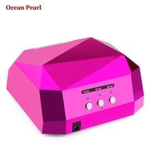 OCEAN PEARL LED UV Lamp Nail Dryer Nail Lamp 36W Diamond Shaped lamp  LED CCFL Spiral bulb UV Gel UV Lamp Nail Art Tools 1006A