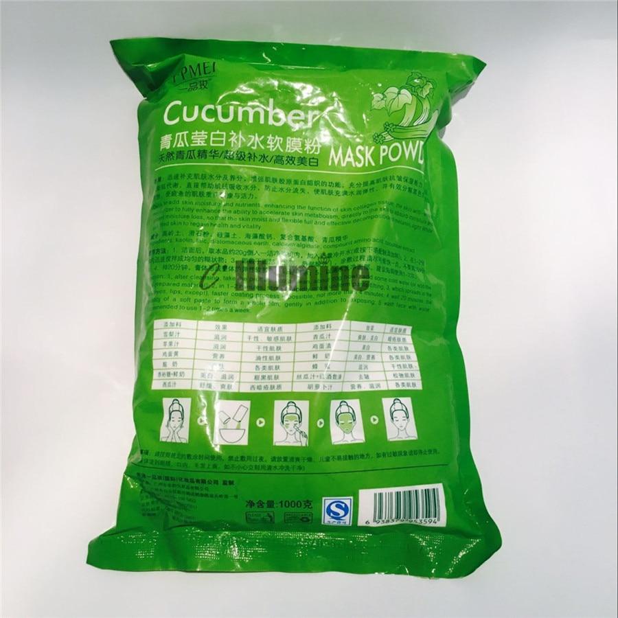 1000g Cucumber Facial Whitening Moisturizing Treatment Mask Powder SPA Skin Care Ageless Products