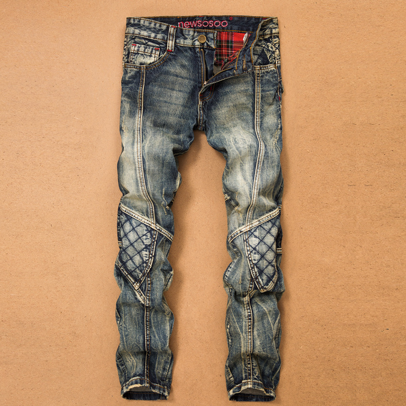 Denim 2020 New Casual Ripped HIP HOP Jeans Men With Holes Super Skinny Famous Jean Scratched Biker Trouers Dropshipping