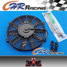 16 дюймов Универсальный электрический радиатор гонки охлаждающими вентиляторами и монтажный комплект
