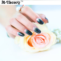 M-theory Adhesive Nails Wraps Stickers 3D Shimmer Glitter Nails Arts Polish Gel varnish Nails Decals Decorations Makeup Tools