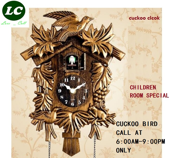 Image 1 - Cuckoo Clock Hourly Tell Time Cartoon Cute Hut Children Room Wall