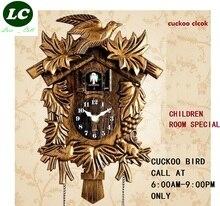 Cuckoo horloge murale pour chambre denfant, horloge avec motif de dessin animé lheure, montre murale pour chambre denfant