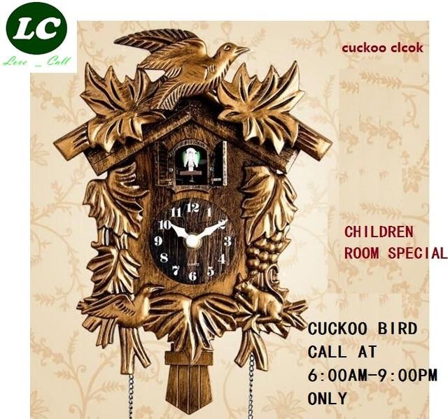 Cuckoo relógio diga horária, tempo, desenhos animados, bonito, hut, crianças, quarto das crianças, relógio de parede