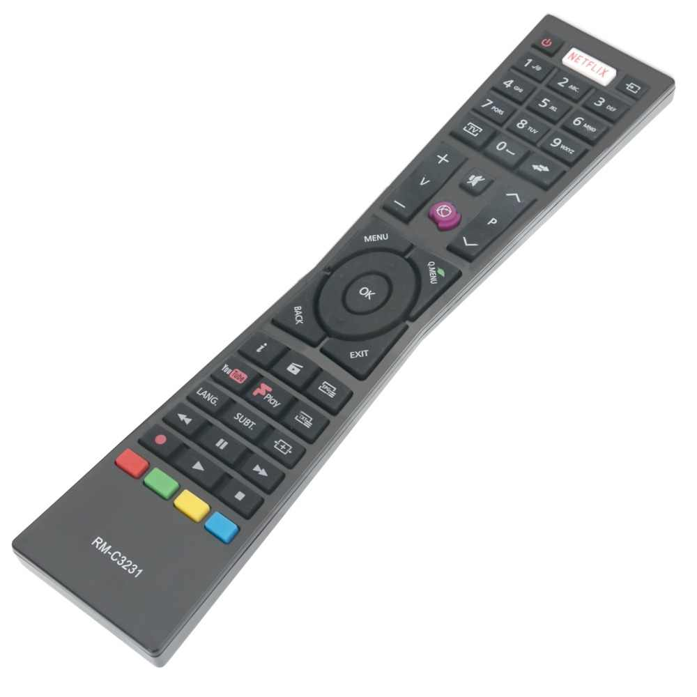 New TV remote control RM-C3231 RMC3231 fits for Currys JVC Smart 4K LED TVs  with NETFLIX YouTube LT24C656 LT-24C656 LT24C661