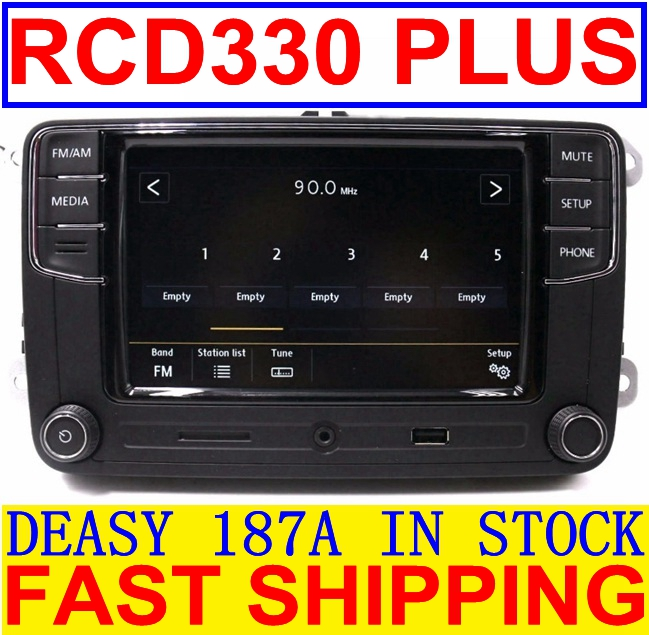 RCD330 Plus RCD510 RCN210 MIB 6.5 Radio MP3 bluetooth Player For VW Polo Golf 5 6 Passat B6 B7 CC Tiguan Jetta MK5 MK6 Воск