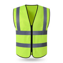 10 PCS Free Custom LOGO Reflective vest construction site safety protective clothing jacket garden traffic fluorescent vest(China)