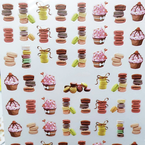 Image 5 - New arrived 3D Nail Stickers Decals 1 sheet panda cake dog  Summer Adhesive Stickers Nail Art Tattoo Decoration Z0170