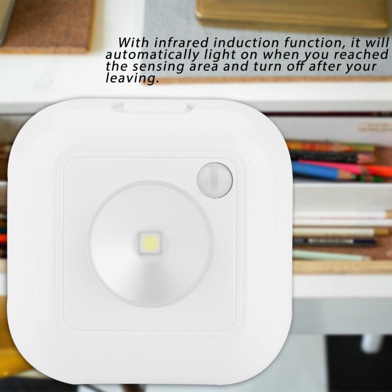 LED Infrared PIR Motion Sensor Night Light Body Induction Closet Cabinet Light Wardrobe Cupboard Night Lamp