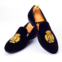 Harpelunde Мужские модельные туфли ручной работы, черные бархатные Лоферы модные тапочки под смокинг Размер 6 14