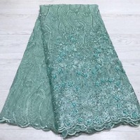Madison Wine Lace Handmade Beaded Fabric For Dress Newest Luxury Lace For Bride 5 yards Heavy Lace Garments