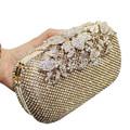 Free Shipping New Both Side Diamond Flowers Leaf Crystal Evening Clutch Bags Hot Styling Day Clutches Lady Wedding Purse YGH1270