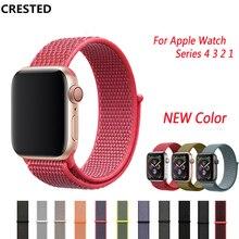 Спортивная петля ремешок для Apple Watch группа 4 3 42 мм 44 мм iWatch Группа 38 мм 40 мм аксессуары новый красочный мягкий нейлоновый манжет браслет