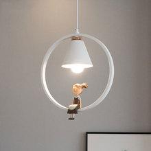 Nordic bedside chandelier E27 socket single head modern minimalist bedroom pendant lamp creative restaurant dining room light