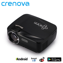 Crenova 3D Android 4.4 Proyector 1200 Lúmenes 1G RAM 8G ROM TV analógica Bluetooth Wifi Proyector LED Proyector para Cine En Casa Juego