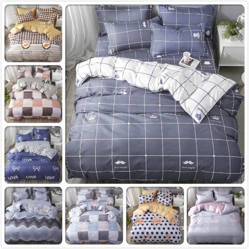 Duvet Cover Sheet Quilt Pillow Case 3pcs/4pcs Bedding Sets Kids Child Soft Cotton Bed Linens Single Twin Queen King Size 180x220