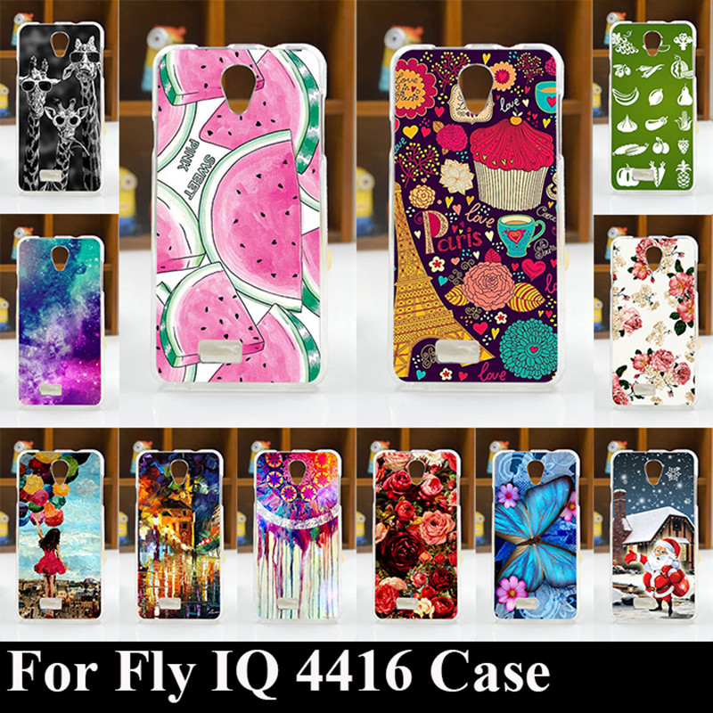FOR Fly IQ 4416 Era Life 5 Soft Tpu Plastic Mobile Phone Cover Case DIY Color Paitn Cellphone Bag Shell Free Shipping