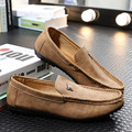 Men 2017 Spring Male Moccasins Fashion Male Casual Nubuck Leather Flat Shoes British Men Driving Shoes SMYXP-E0031