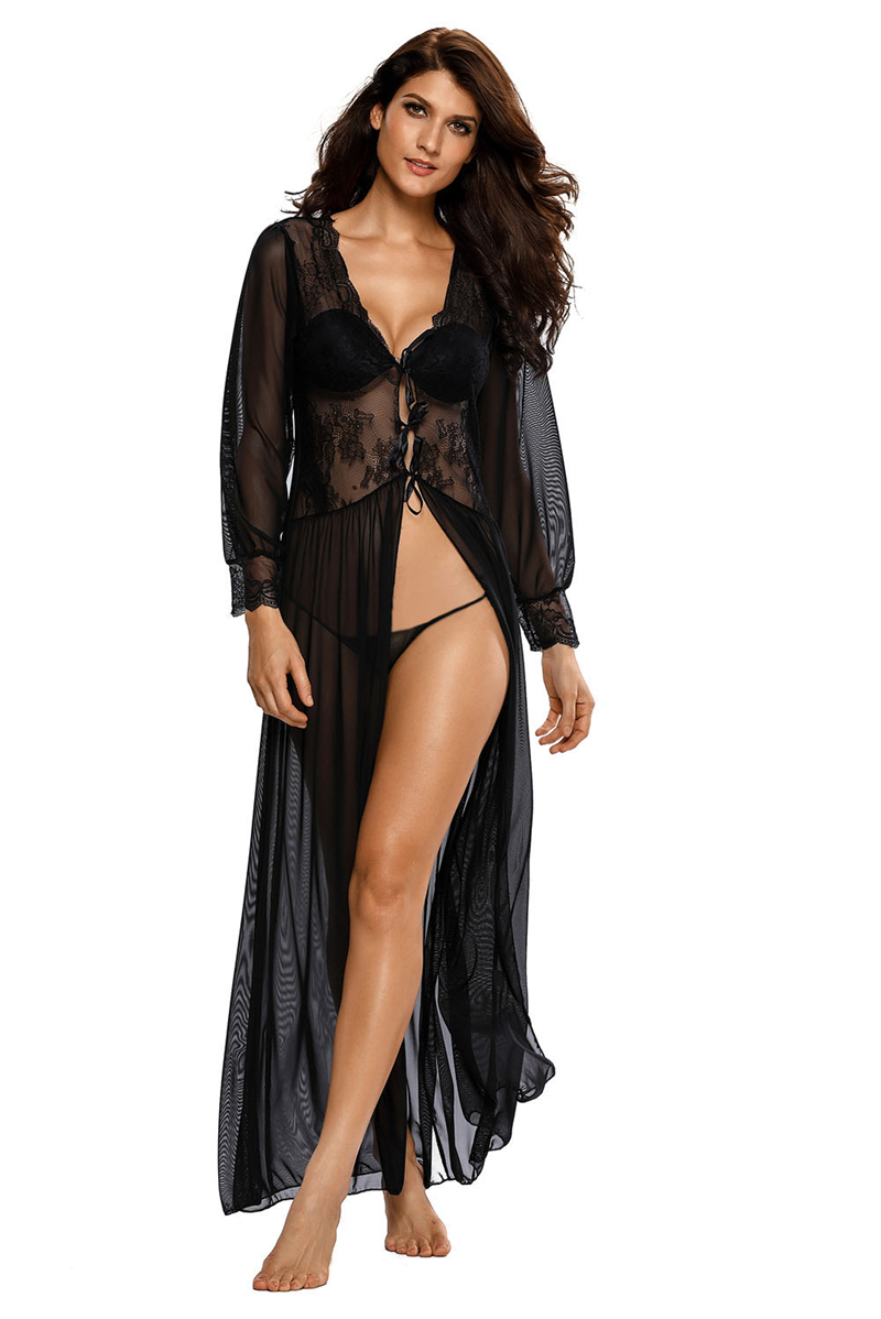 Sheer-Long-Sleeve-Lace-Robe-with-Thong-LC31037-2-7