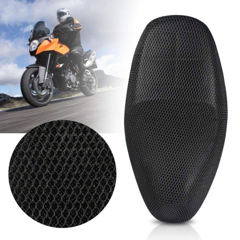 Summer High Quality Fresh Breathable 3D Mesh Motorcycle Moped Seat Waterproof Anti-Slip Cushion Covers