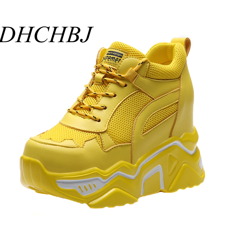Women Fashion Platform Sneakers For Women Chunky Causal Dad Shoes Woman Thick Sole Ladies Jelly Shoe Laces Chaussures Femme