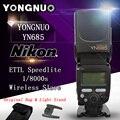 Yn685 yongnuo i-ttl dual 2.4 ghz wireless 1/8000 s gn60 yn685n speedlite de destello para nikon dslr cámaras compatibles con yn622n ii