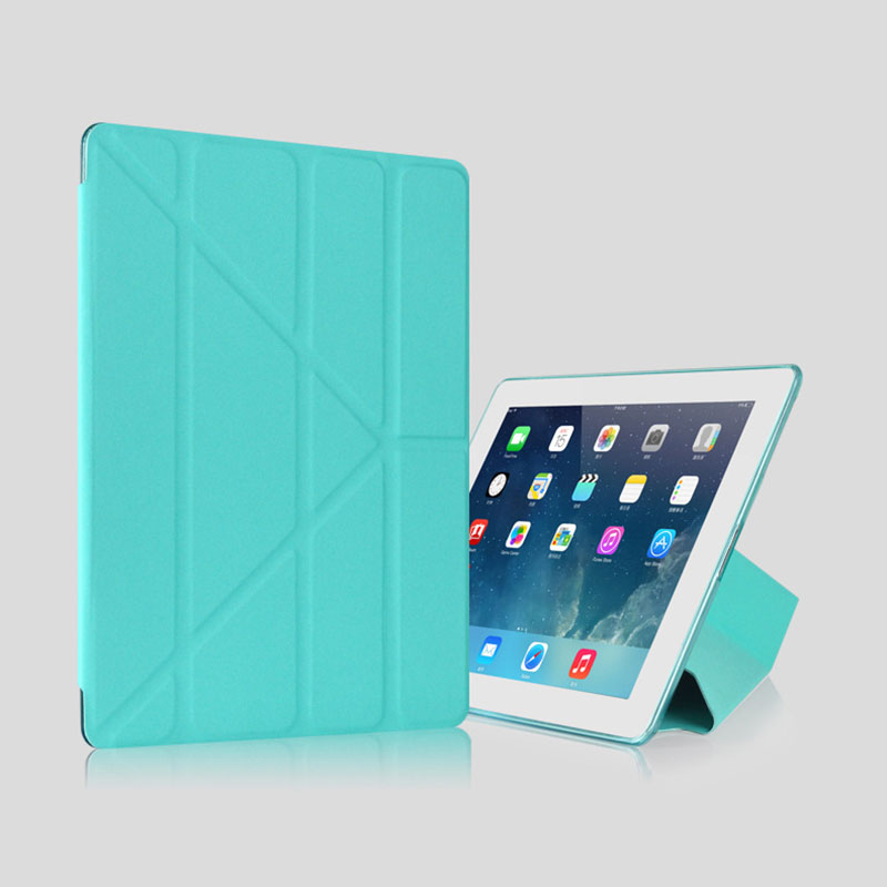 For iPad Mini 4 Case Silicone TPU Soft Back Smart Cover Stand PU Leather Protective Shel ...