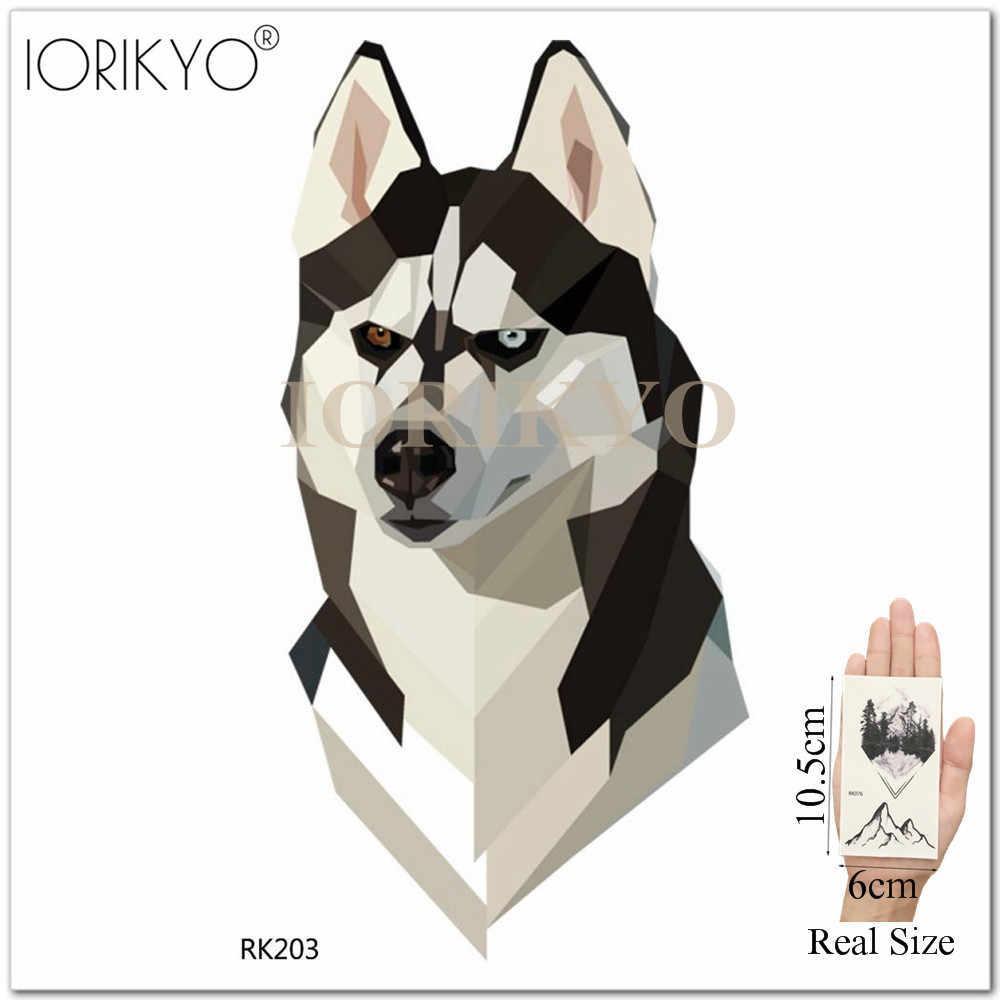 10c5fb2f0 ... IORIKYO Watercolor Moose Deer Temporary Tattoo Stickers Men Fashion  Husky DIY Waterproof Tatoos Women Arm Wolf ...