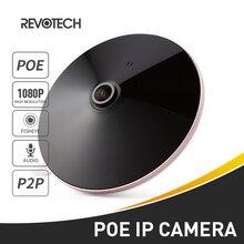POE Audio HD 1920x1080 P 2.0MP visión nocturna ojo de pez panorámico LED IR IP cámara de seguridad CCTV sistema Video vigilancia Cam P2P