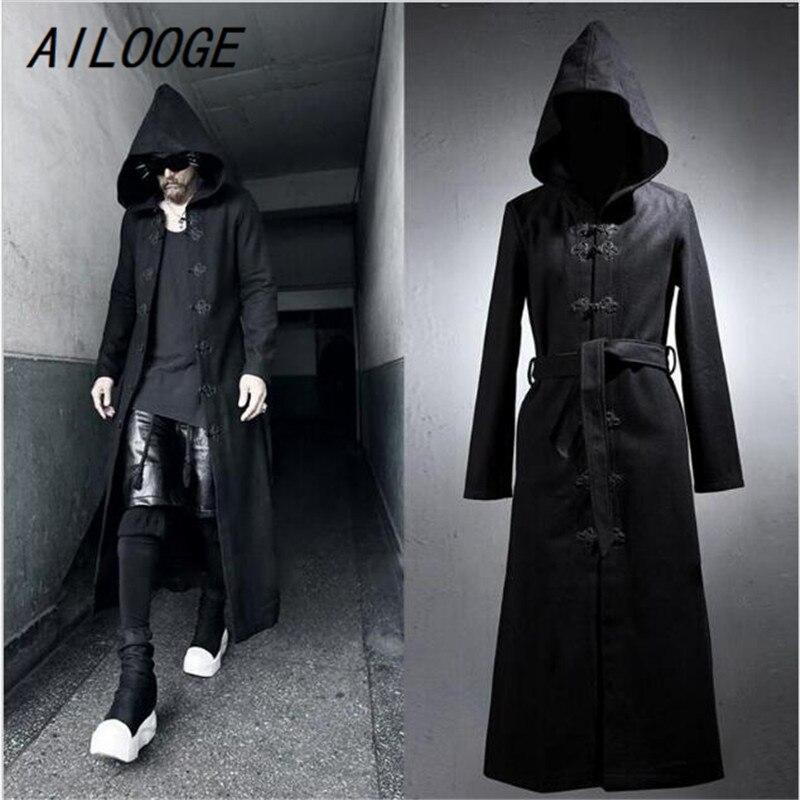 Cashmere feminino casaco longo manga comprida lã solta casaco outwear inverno outono trench coats tamanho grande - 2