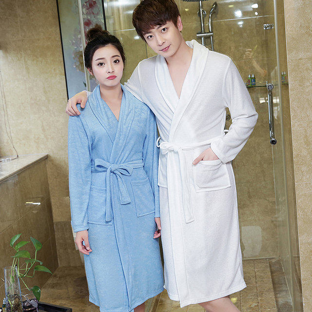 9493def3da On Sale Men s Coffee Suck Sweat Towel Bathrobe Men Summer Terry Bath Robe  Mens Dressing Gown