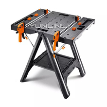 Folding Woodworking Saw Table DIY Portable Multi-function Working Table With Quick Clamps Holding Pegs Carpentry Console WX051