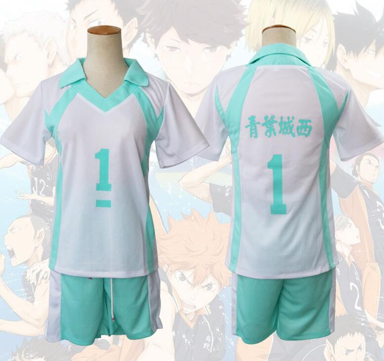 Haikyuu Aoba Johsai High School Uniform Jersey NO.1 oikawa tooru Cosplay costume