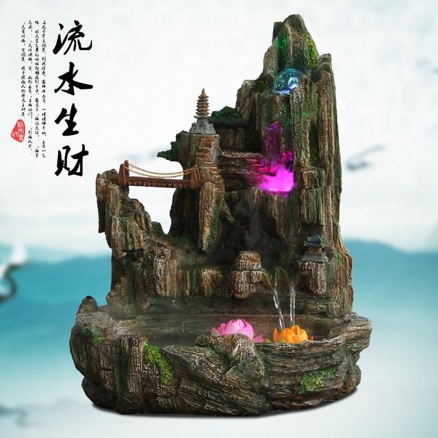 Big Fish Tank Water Indoor Water Fountain Bonsai Opening