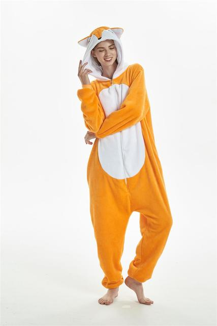 Кигуруми новый лиса комбинезоны для взрослых и детей Пижама для животных  косплэй костюм пижамы панда Дракон a4161287a88ad