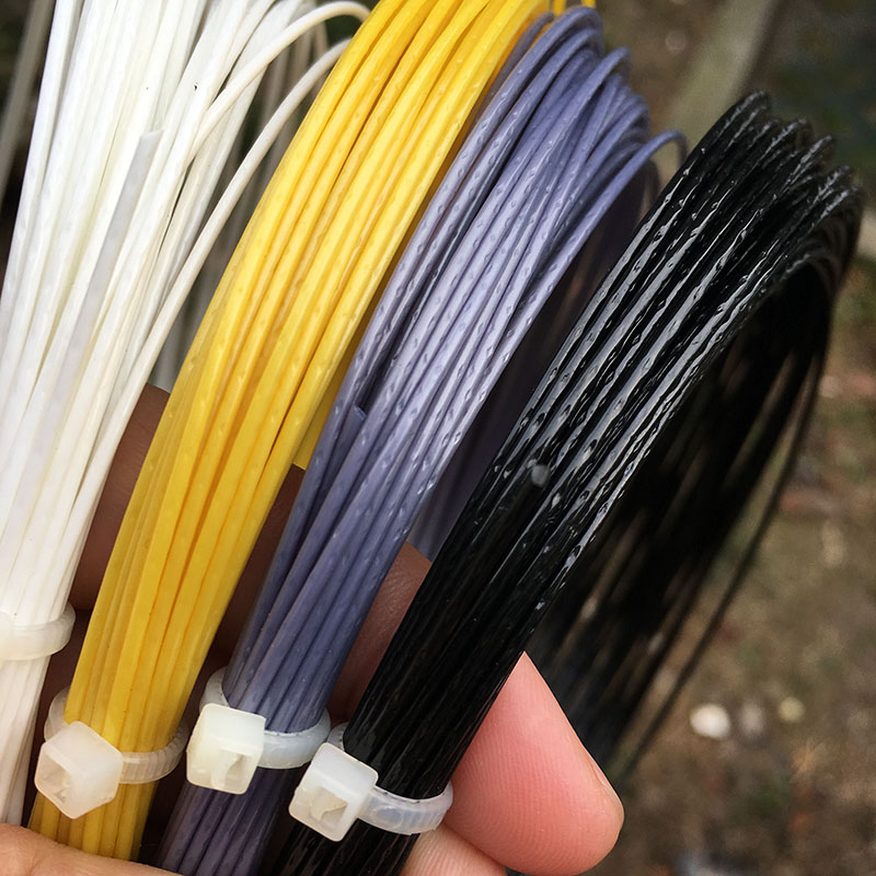 1 Pc Free Shipping 12M 125 ALU 17L/1.25mm Tennis String 4 Colors