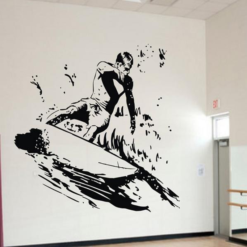 diy surfer wall stickers cool sports wall decals for boys room kids bedroom vinylk removable go - Sports Wall Stickers For Bedrooms