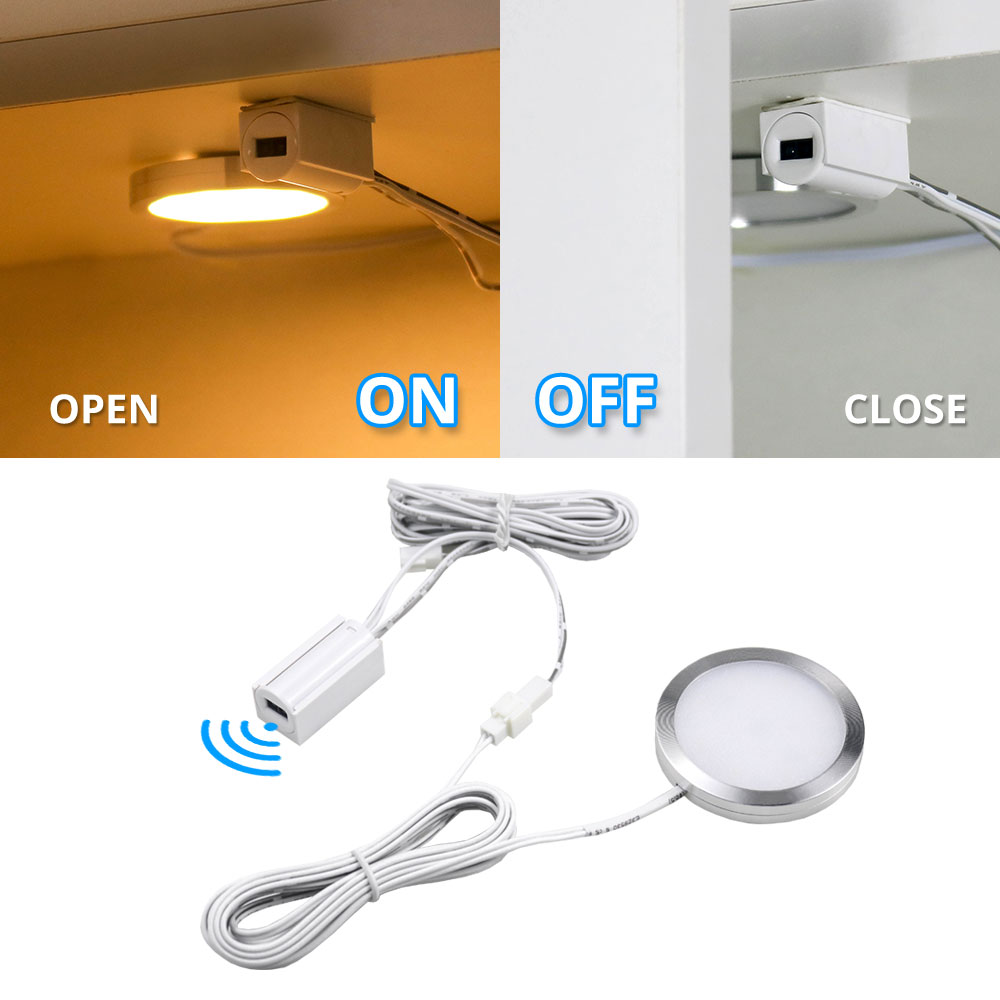 2.5W 12V DC Smart Door Sensor Motion Sensor Infrared Under Cabinet Lights Smart Switch  Cupboard Wardrobe Closet Light Lighting