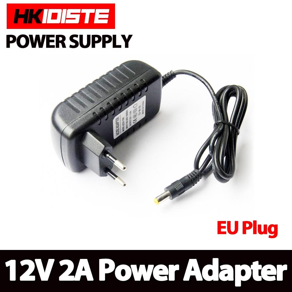 1PCS 12V2A AC 100V-240V Converter Adapter DC 12V 2A 2000mA Power Supply EU Plug 5.5mm x 2.1-2.5mm for LED CCTV1PCS 12V2A AC 100V-240V Converter Adapter DC 12V 2A 2000mA Power Supply EU Plug 5.5mm x 2.1-2.5mm for LED CCTV
