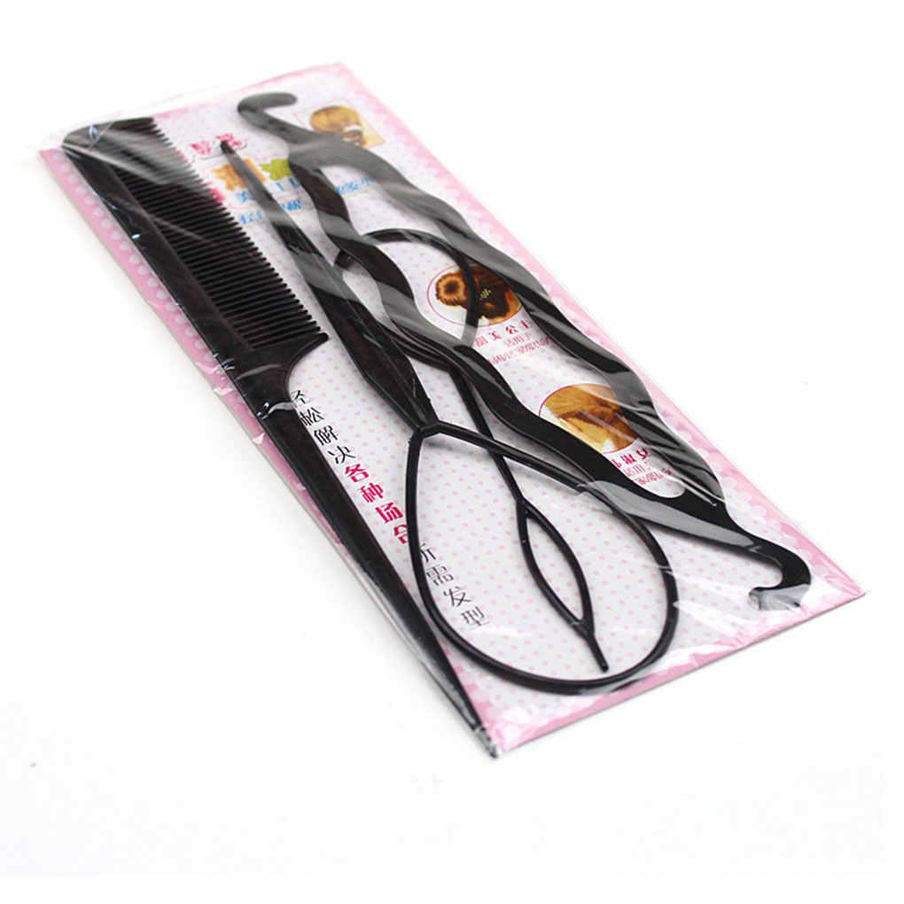 Четыре штуки Пластик тянуть шпилька для волос Инструменты для укладки волос хобби Стайлинг для волос аксессуары наборы приспособление для укладки волос в узлы