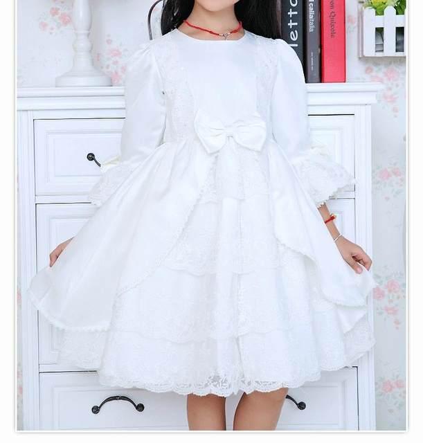 Online Shop Western Style Fancy Ball Formal Dress Girls White Dance