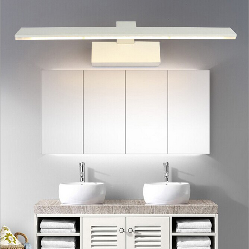 Modern LED mirror light led bathroom light makeup mirror lamp cabinet lamp modern waterproof wall lamp modern minimalist waterproof antifog aluminum acryl long led mirror light for bathroom cabinet aisle wall lamp 35 48 61cm 1134
