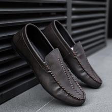 Mocassins en cuir, respirants, pour hommes, chaussons de pois, tennis masculin adulte, Krasovki 2019, chaussures décontractées