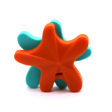 Safe Toys For Soothe Teething Baby BPA Free Starfish Silicone Teether DIY chew Necklace Nursing Tool Pendant 5pcs