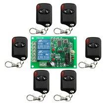 DC12V 10A 2CH 315 MHz/433 MHZ Transmisor Inalámbrico RF Interruptor de Control Remoto 6 * ojo de gato + 1 * receptor para Aparatos de Puerta de Puerta de Garaje