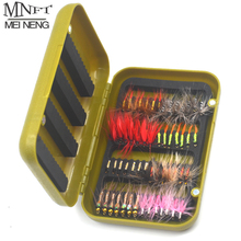 MNFT 56Pcs/Sets Fly Fishing Lure Set Artificial Bait Trout Zebra Body Fly Fishing Nymph Lures Hooks Tackle With Box