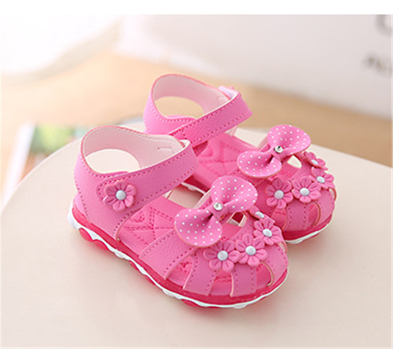 HTB1RTLXef5TBuNjSspmq6yDRVXaf - Xinfstreet Baby Toddler Girls Summer Shoes Children Sandals With Light Up Breathable Soft Bow Kids Girls Sandals Size 21-30