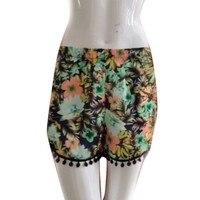 Women Mini Floral Shorts Girl Beach Surf Board Short Pants Bottom