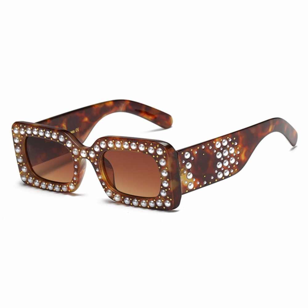 021855b59d2 ... Italy Brand Luxury Square Sunglasses Vintage Women Pearl Diamond  Shadows Sun Glasses Pearl Frame Eyewear Oculos ...
